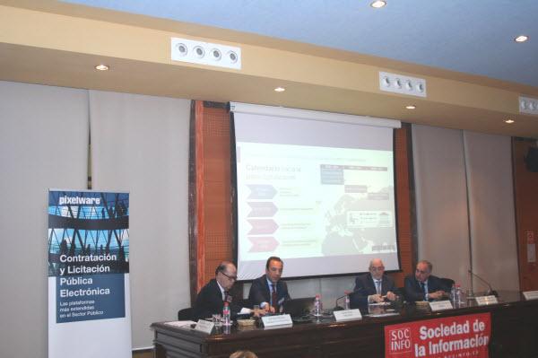 De izquierda a derecha, Jose GarcIa Mendez, Safwan Nassri, Gabriel Sanchez Dorronsoro, Miguel Munoz-Delgado Pagan